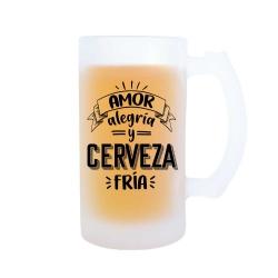 Jarra Amor, alegría y cerveza fría