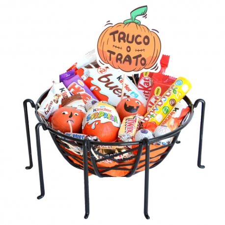 Cesta Halloween chocolate