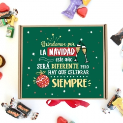 Caja Brindemos por Navidad, color verde