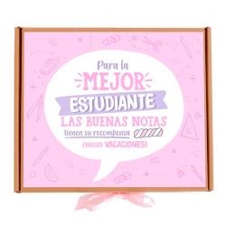 Caja Estudiante rosa chuches